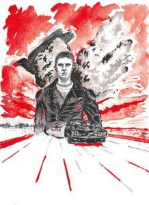 Illustration film Mad Max 1 par Alx