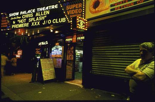 Vue de Times Square New York années 1980