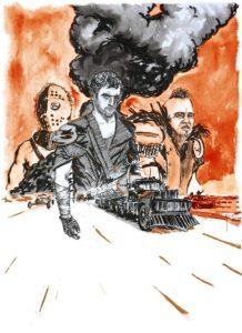 Illustration film Mad Max 2 par Alx