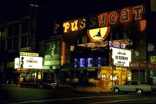 Vue de New York Times Squares années 1980