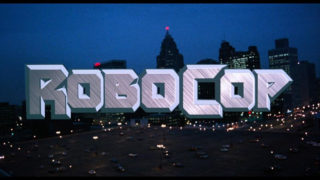 Titre du film Robocop en grosse capitale
